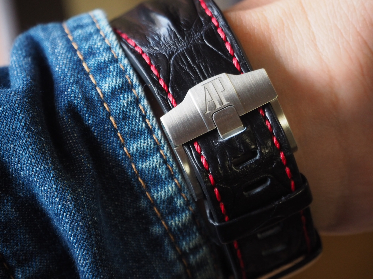 このままじゃ時計ベルト乞食に!?ロイヤルオークオフショア アリゲーターベルトXSサイズ。