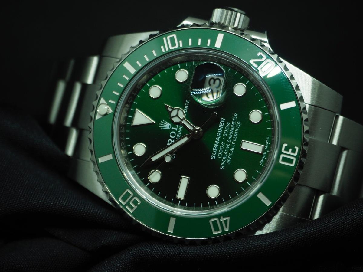【人柱レポ】ロレックス グリーンサブマリーナ116610LVを腕時計一括査定で見積もってみた。